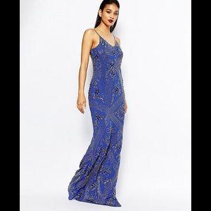 401a709a5b Virgos Lounge Blue Dame Maxi Evening Dress